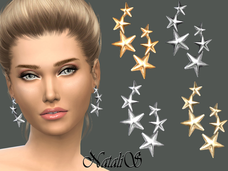 NataliS_Three stars earrings