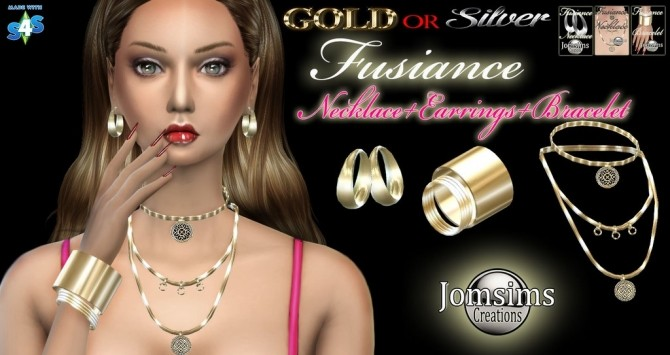 FUSIANCE SET BRACELET + EARRINGS + NECKLACE By JOMSIMS