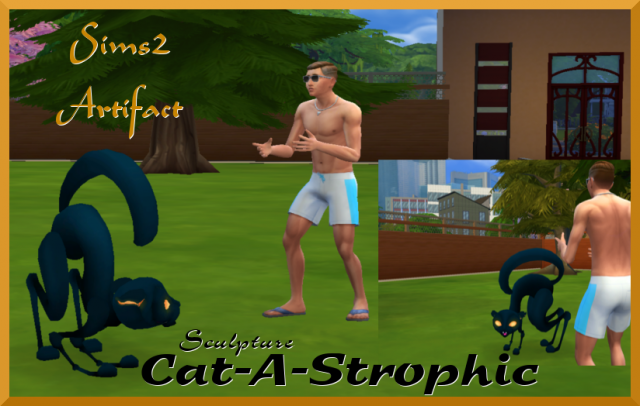 Cat-A-Strophic Sculpture by stevenssimsstuff