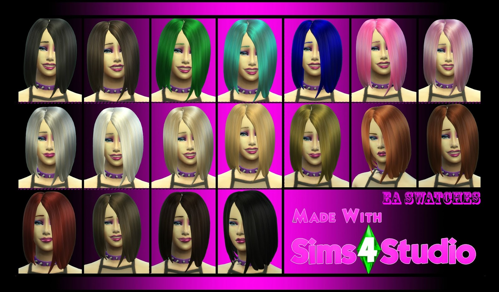Goth Bob Hair for Females by LaraCroftFan1