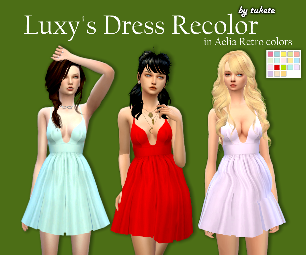 Luxy Dress Recolors by Tukete