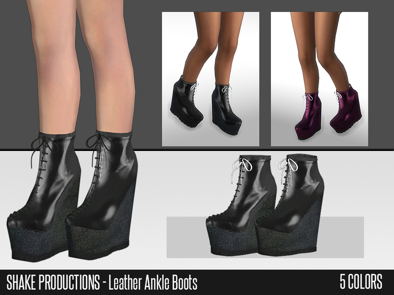 ShakeProductions 42 Leather Ankle Boots BY ShakeProductions