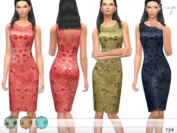 Flower Embellished Dress by ekinege
