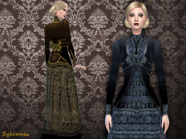 Edwardian mourning dress 1905_T.D. by Sylvanes