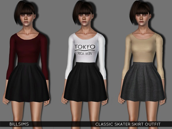 Classic Skater Skirt Outfit by Bill Sims