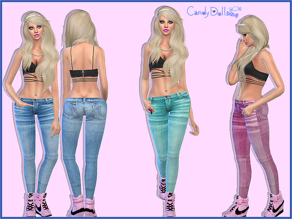 Candy Doll Sweet Jeggings by DivaDelic06