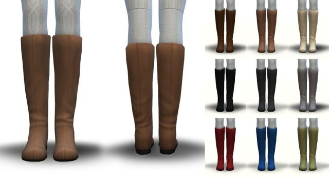 Less Piratey Boots - EA's Pirate Boots De-Cuffed in 11 Colors by Pickypikachu