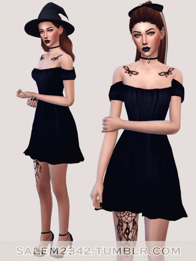 Cap Sleeve Shift Dress by salem2342