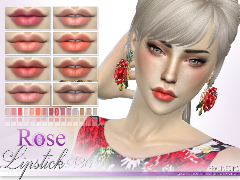 Bloom Lipstains ~ 2 Matte Lipsticks BY Pralinesims