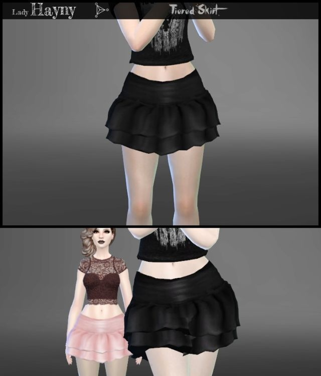 Tiered Skirt in 11 Colors by LadyHayny