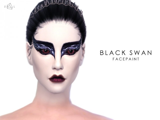 Black Swan Face Paint by starlord