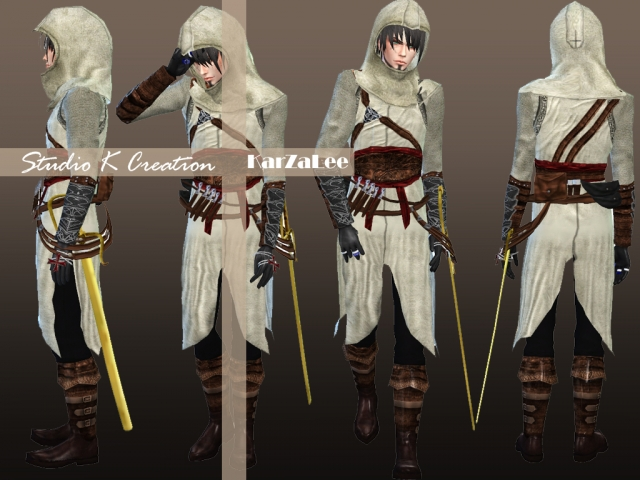 Assassins Creed-Altar Outfit, Accessories and Boots by Karzalee