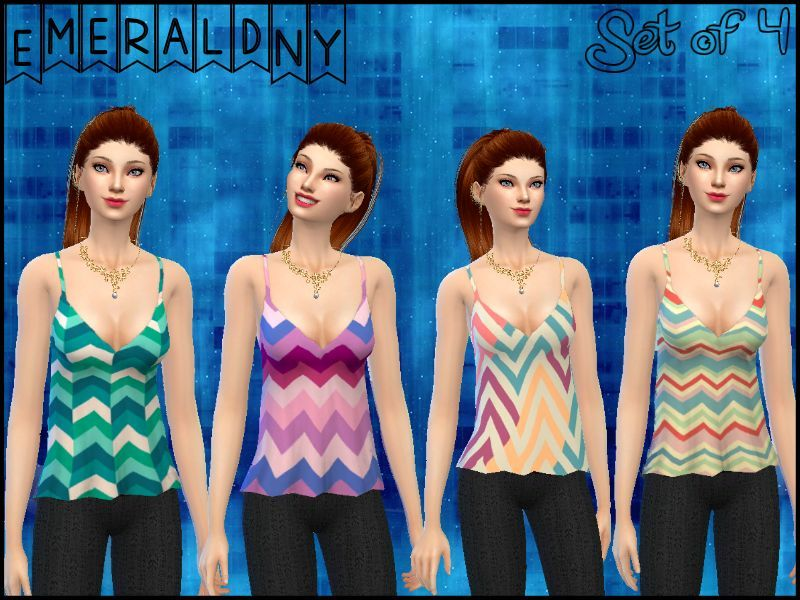 Gabby Top by Sentate Recolor (Chevron)- mesh needed BY EmeraldNY