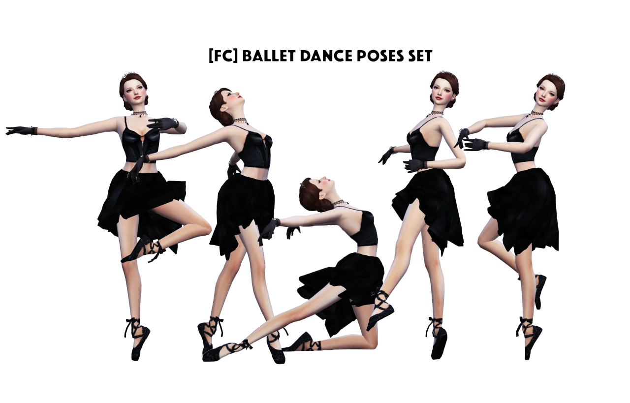 BALLET DANCE POSES SET by flowerchamber