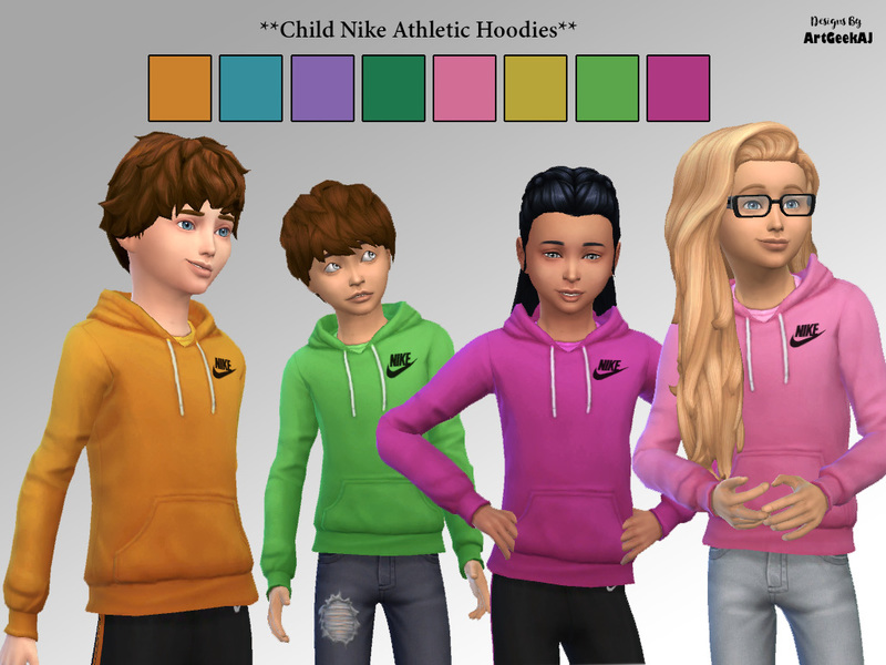 Child Nike Athletic Hoodies BY ArtGeekAJ