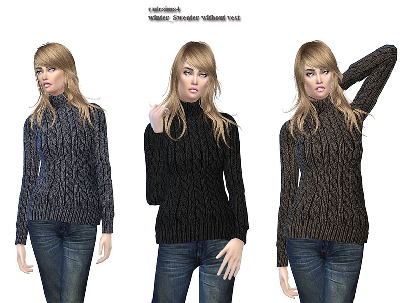 Winter_Vest_sweater Set BY sweetsims4