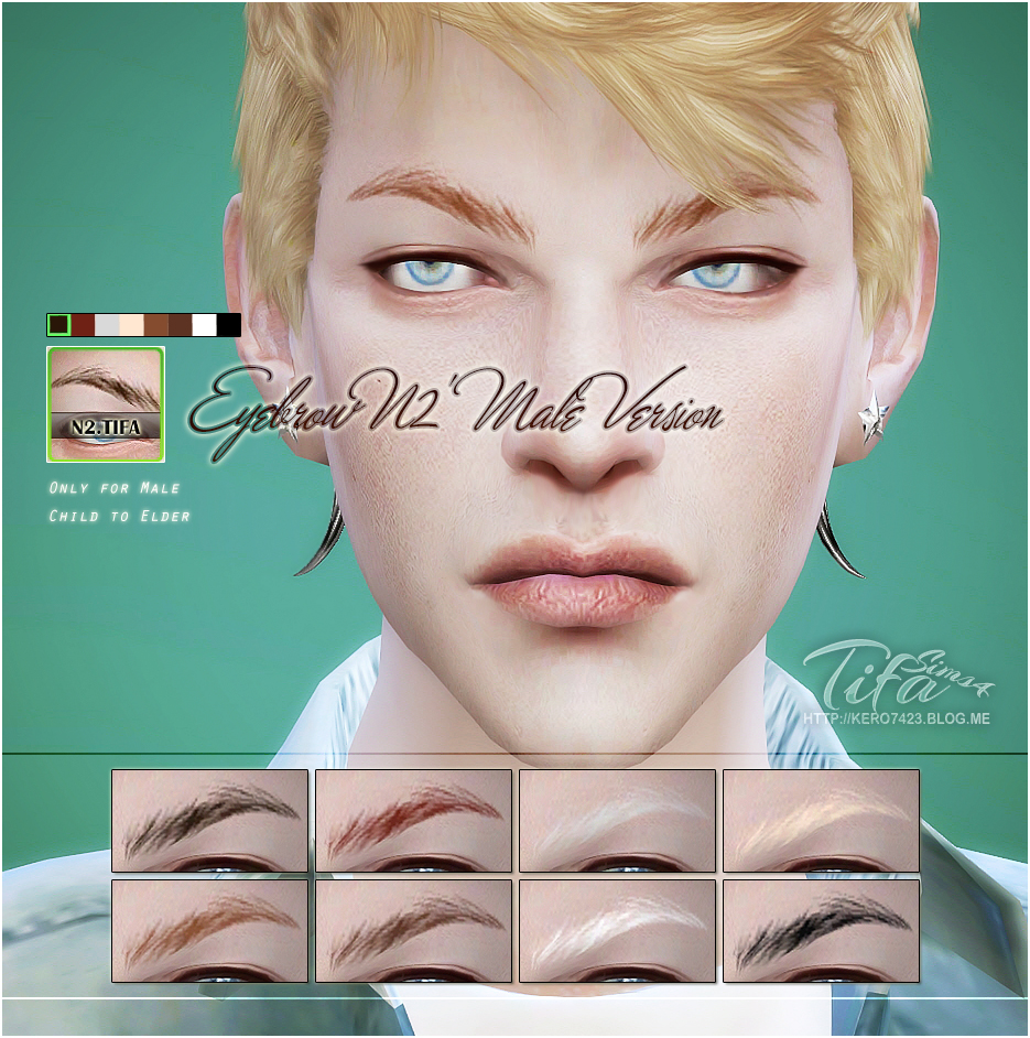 Eyebrows N2 for Males by Tifa