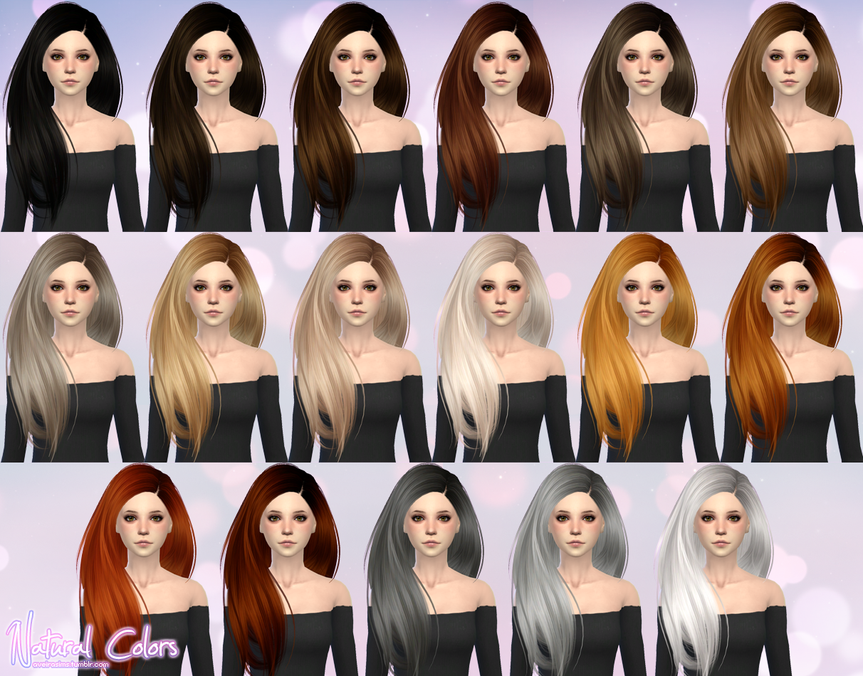 SkySims Hair 274 Retexture for Females by AveiraSims