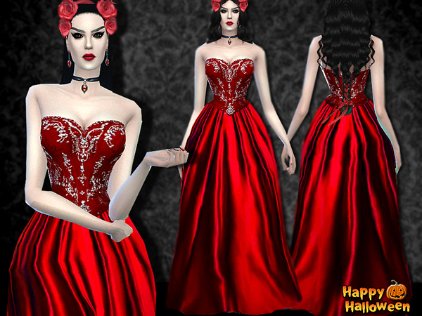 Dracula's Bride Dress for Halloween by Pinkzombiecupcakes
