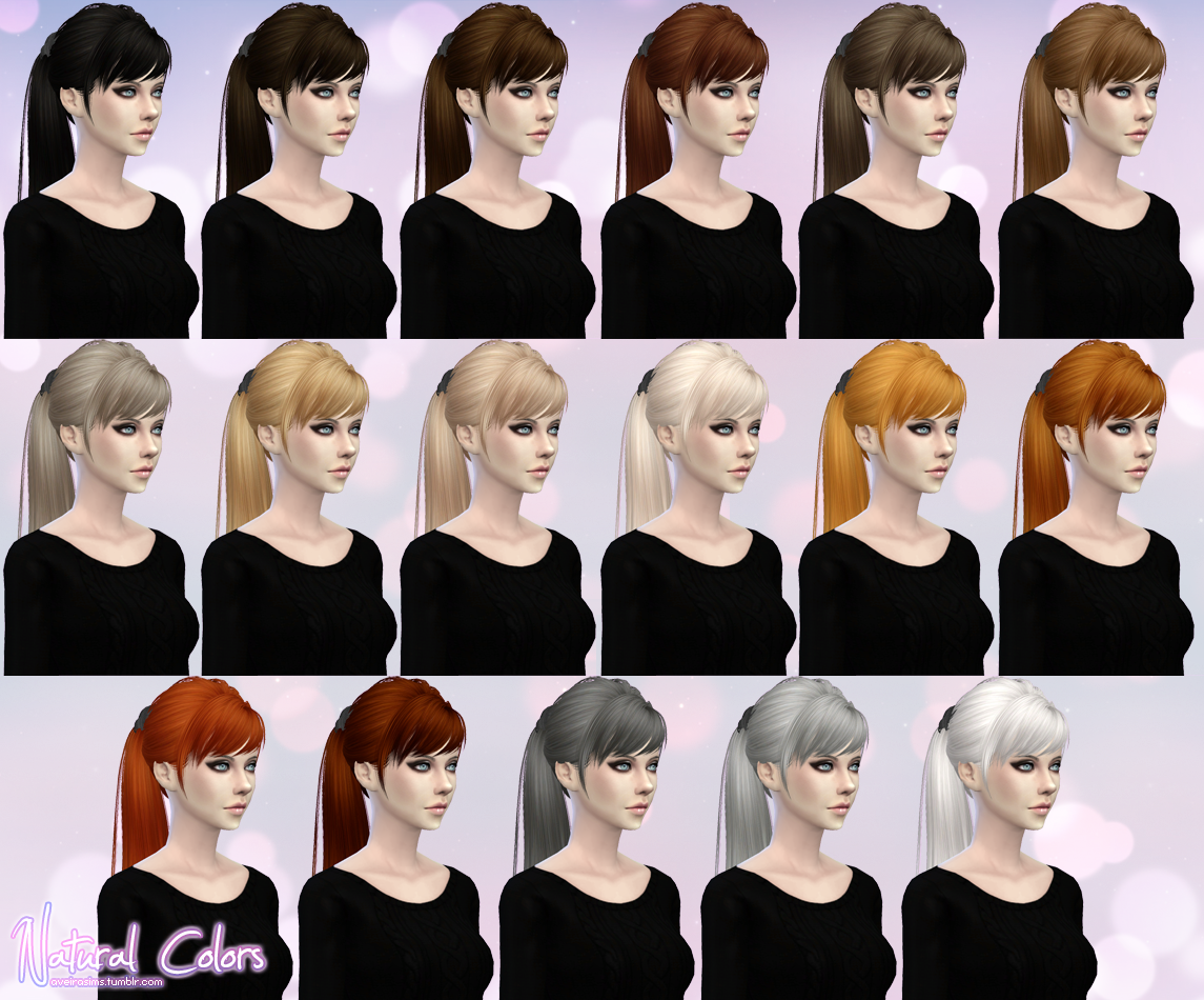 SkySims Hair 115 Retexture for Females by AveiraSims