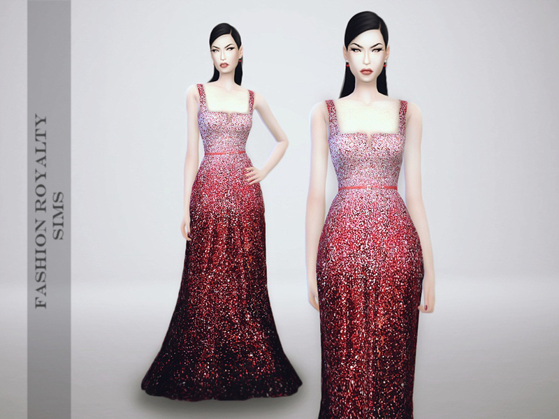 Elie Saab Fall 2014 - Ombre Dress BY FashionRoyaltySims