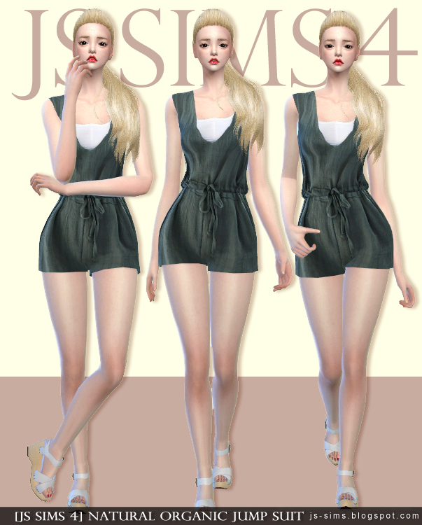 Natural Organic Jump Suit by JS Sims 4