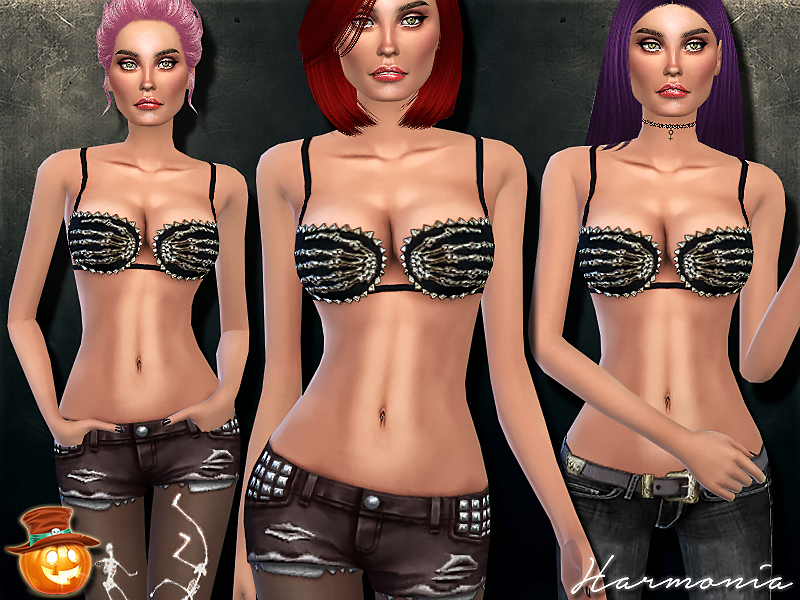 Gold Hand of the Devil Spikes Bra BY Harmonia