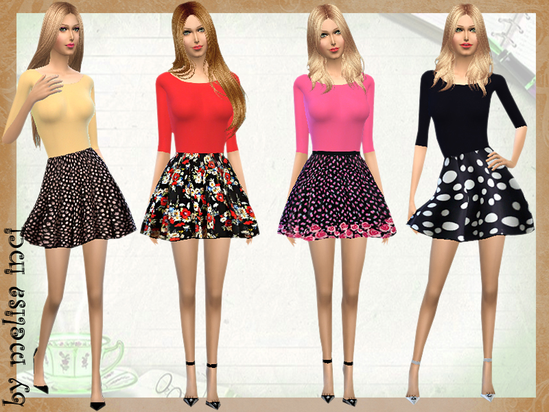 Color Block Floral Dress BY melisa inci