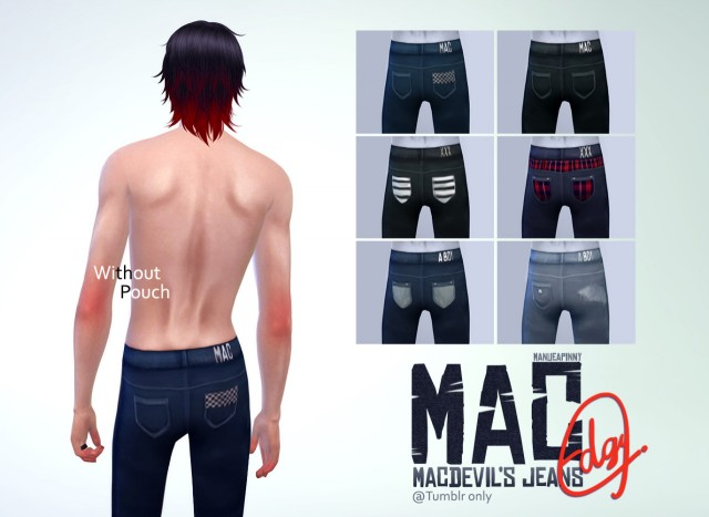 MACs jeans Edgy Without pouch version by ManueaPinny
