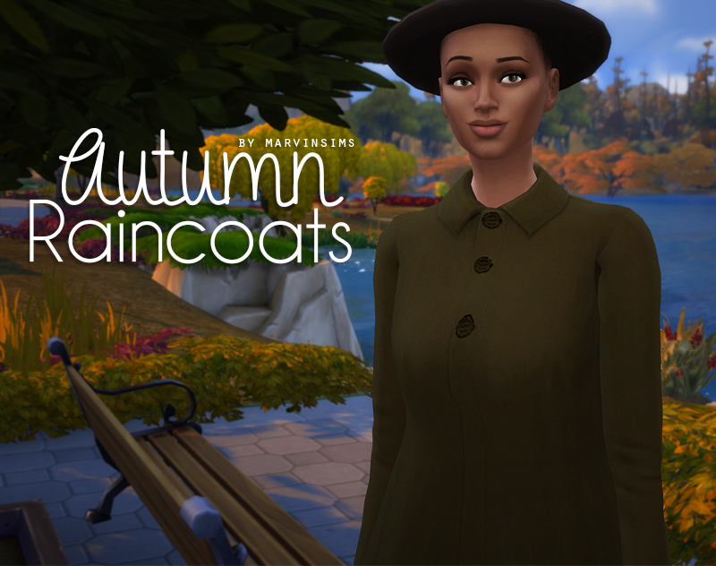 Autumn Raincoats in 12 Colors for Females by MarvinSims