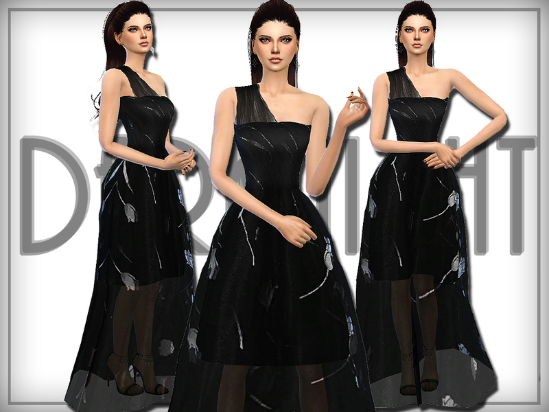 One-Shoulder Tulle Gown  BY DarkNighTt