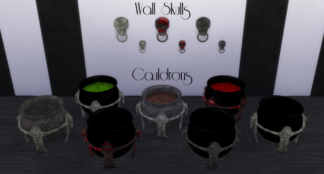 Skulls Corpses Living Dead and Wall Skulls Cauldrons by sg5150