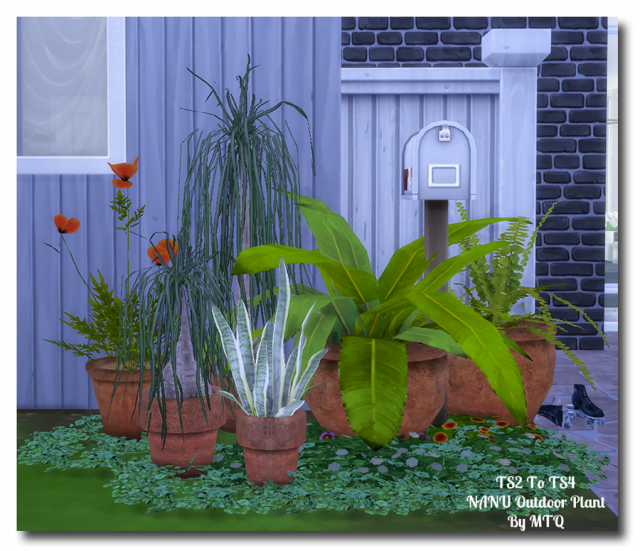 TS2 To TS4 - Outdoor Plants by MsTeaQueen