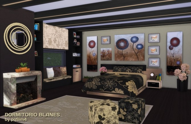 BLANES BEDROOM By PQSIMS4