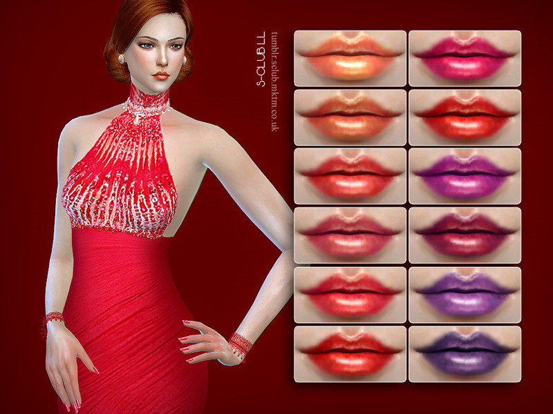 S-Club LL thesims4 Lipstick F17