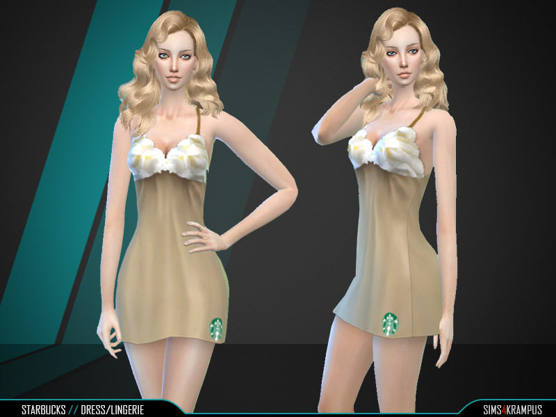 Starbucks Dress BY SIms4Krampus