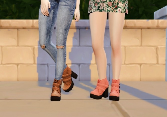 PIXICAT BUCKET BOOTS BY DREAMTEAMSIMS RECOLORS By RINVALEE