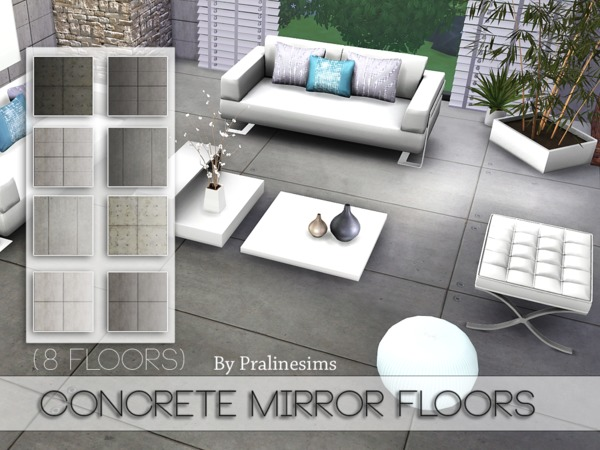 Concrete Mirror Floors by Pralinesims