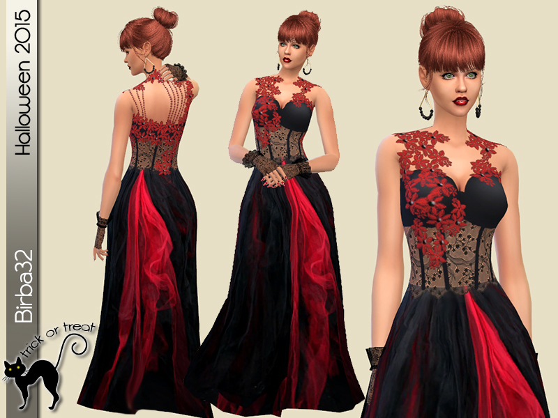 Red and Black dress BY Birba32