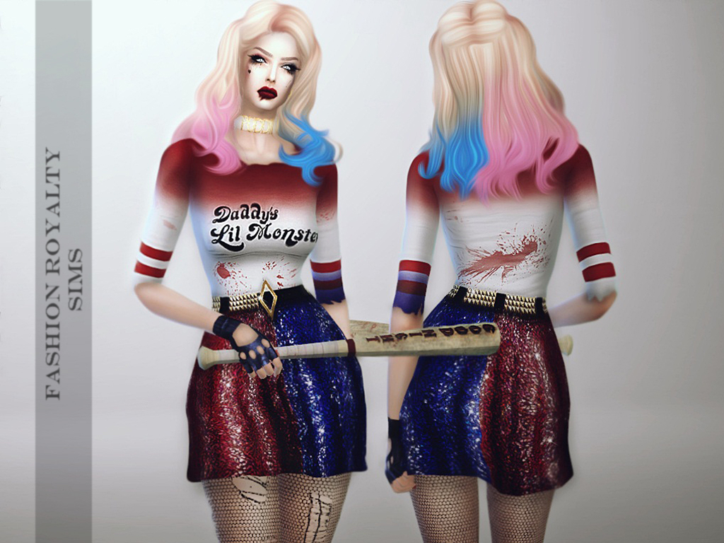 Harley Quinn Outfit by FashionRoyaltySims