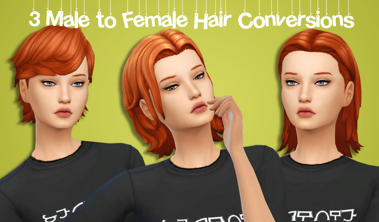 Three Male to Females Hair Conversions by XDeadGirlWalking