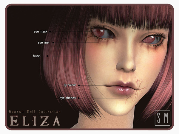 [ Eliza ] - Broken Doll Makeup Collection by Screaming Mustard