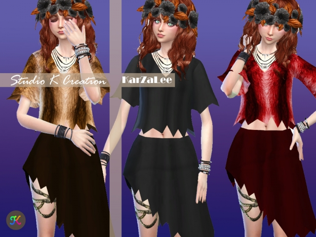 Giruto S5 Row Cut Outfit Separates by Karzalee