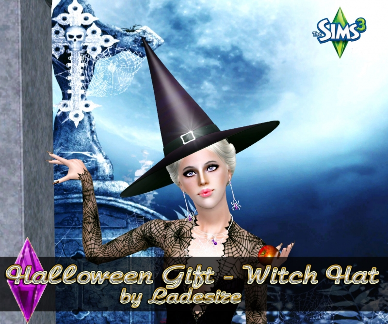 Halloween Gift -Witch hat by Ladesire