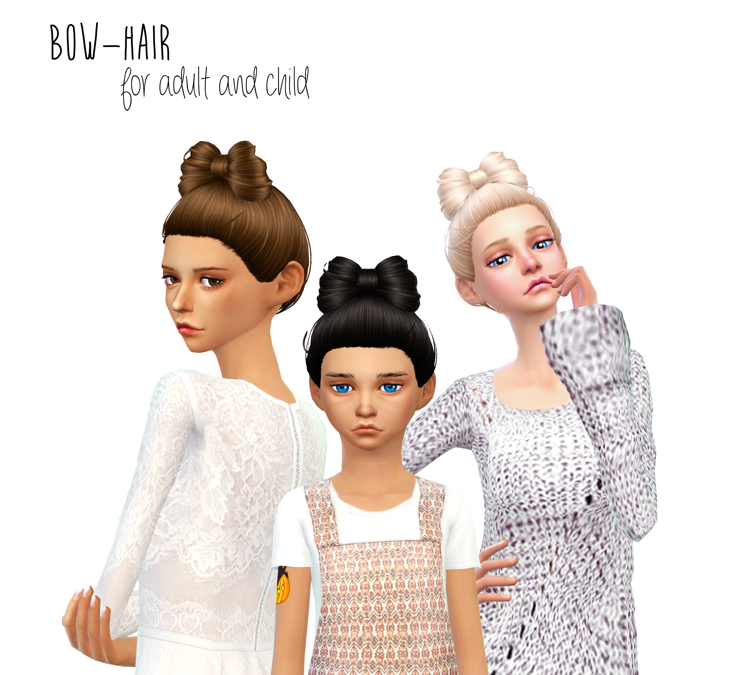 Bow Hair for Females by DaniParadise