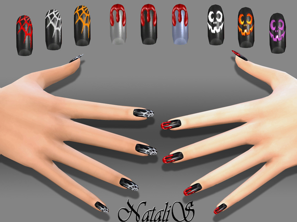 NataliS_Halloween nails art