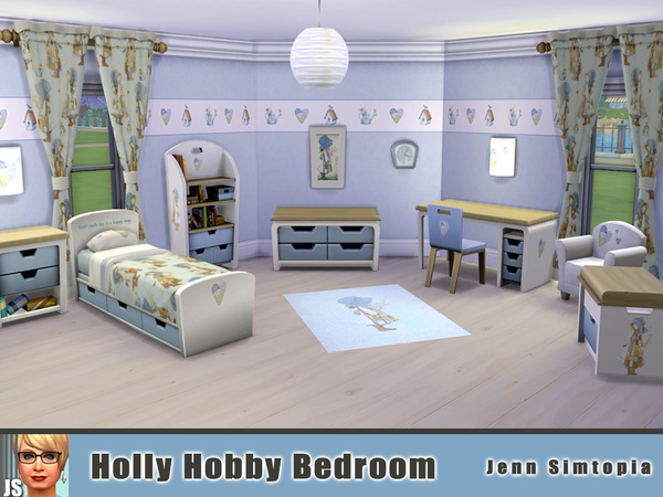 Holly Hobby Bedroom by Jenn Simtopia