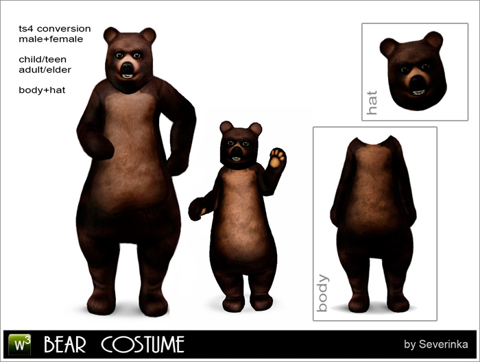 Bear costume by Severinka