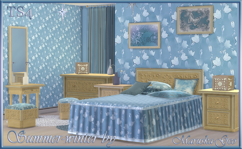 Summer or Winter Bedroom Set by MaruskaGeo