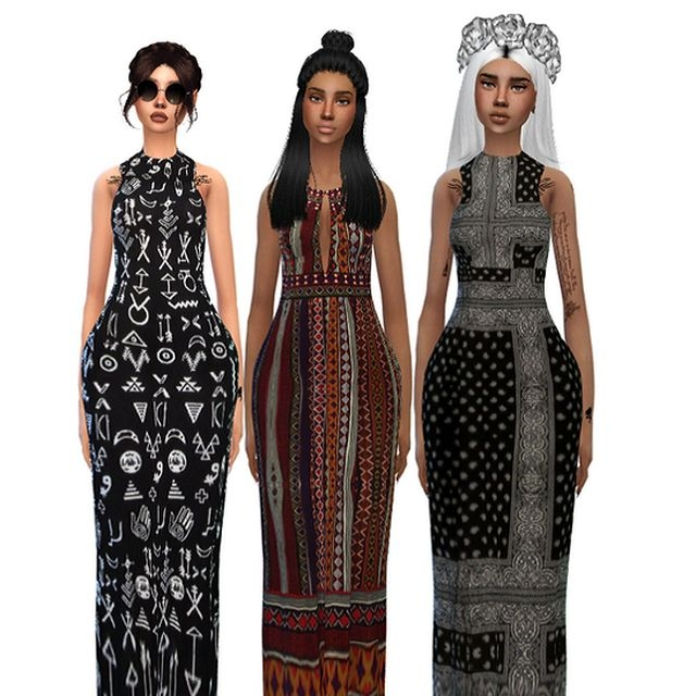Maxi Dresses by AverageSimblr